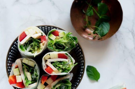 Spring rollsy z hummusem