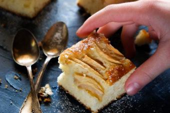 Ciasto ucierane z jabłkami i ricottą