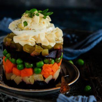 Sałatka jarzynowa z pieczonych warzyw