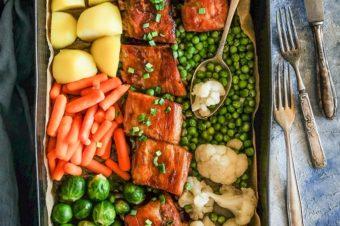 Żeberka słodko-kwaśne z warzywami
