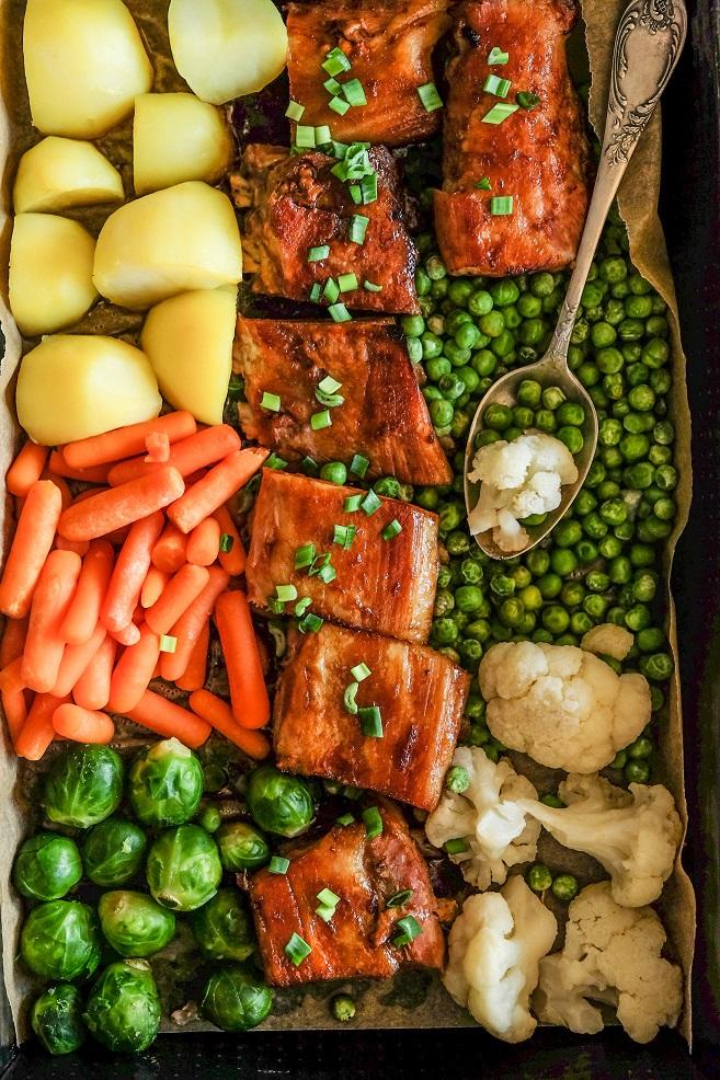 żeberka w sosie słodko kwaśnym z warzywami