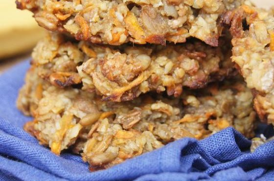 Bananowo-marchewkowo-owsiane ciasteczka na drugie śniadanie