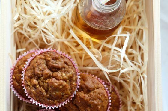 Śniadaniowe muffiny z marchewką i ziarnami (bez jaj, bez cukru) :-D